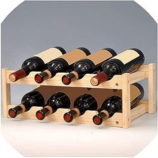 Mo Duo Denim Shorts 12Bottle Red Wine Rack DIY Beer Holder Kitchen Bar Solid Wood Display Shelf Room Wine Cabinet Hotel Wine Bottle Rack LU720348,2 Floor