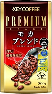 キーコーヒー モカブレンド ライブパック(豆タイプ) 200g