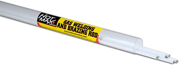 Hot Max 24181 1/8-Inch by 36-Inch Low Fuming Bronze Brazing Rod, Flux Coated, 6-Pack
