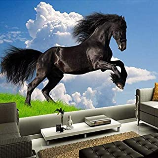 Papel pintado 3D Dark Horse Poster Giant Design Mural de pared moderno Decorar el fondo de TV para la sala de estar Dormitorio Papel tapiz no tejido Papel tapiz 3D Decoración-300cm×210cm