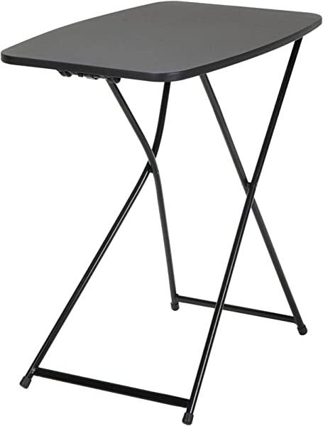 COSCO 18 X 26 Indoor Outdoor Adjustable Height Personal Folding Tailgate Table Black 2 Pack