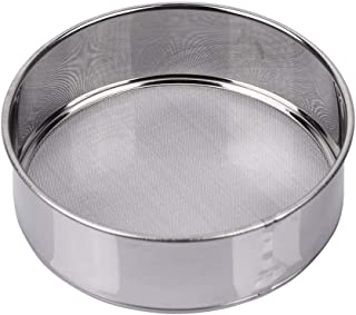 AMPSEVEN Small Tamis Sieve Flour Stainless Steel 6 Inch 40 Mesh Round Sifter for Baking Straining Tool(40m Mesh)
