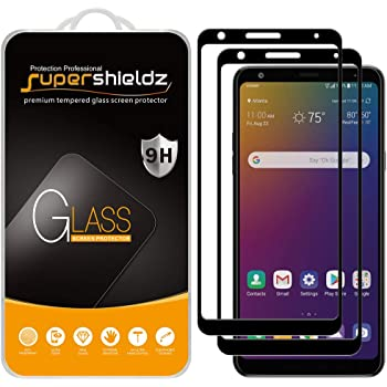 (2 Pack) Supershieldz for LG Stylo 5 / Stylo 5 Plus and Stylo 5X Tempered Glass Screen Protector, (Full Screen Coverage) Anti Scratch, Bubble Free (Black)