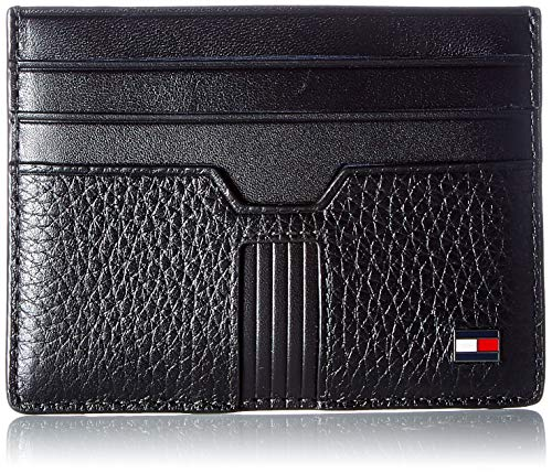 Tommy Hilfiger Herren DOWNTOWN SLIDE CC HOLDER Kleine Lederwaren, Schwarz, One Size