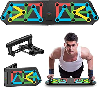 Foldable Pushup Board System 13-in-1 Portable Multicolor Home Training Equipment for Men Women Fitness Exercise Body Train...