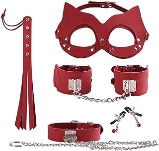 アダルトグッズ 女性のカップルスレーブゲームセックス製品緊縛手錠ボンデージ拘束瞳のムチフェチセックス玩具マスク LCLJP