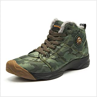 Christmas Winter Ankle Boots Waterproof Military Boots Plush Anti-Skid Booties
