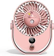Ventilateur de bureau portable avec poignée Rose