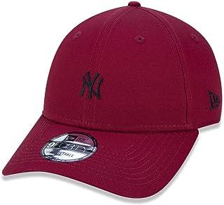 BONE 940 NEW YORK YANKEES MLB ABA CURVA SNAPBACK VERMELHO ESCURO NEW ERA