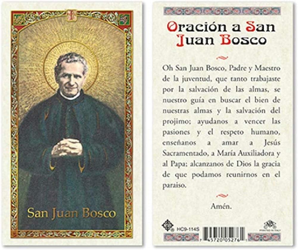SPANISH ST JOHN BOSCO Low price LAMINATED PKG CARDS Max 71% OFF - 25 PRAYER