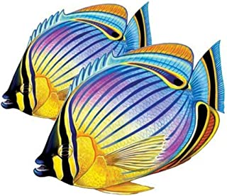 Redfin Butterflyfish (Double) Porcelain Swimming Pool Mosaic (9