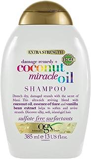 OGX Champú Reparador sin Sulfatos ni Parabenos para Cabello Dañado Coconut Miracle Oil 385 ml