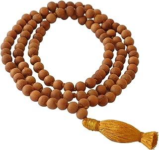 HealthAndYoga(TM) Mala Beads - Sandalwood by SoulGenie