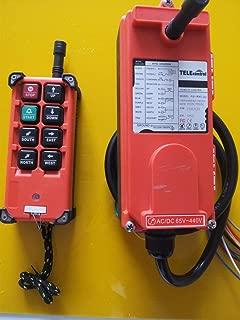 Calvas RF21-E1B industrial universal wireless radio remote control for overhead crane Color: 18to65V VHF310to331