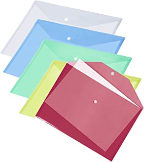 - 10 piezas A4 consumación JJOnlinestore sobre polipropileno transparente de plástico transparente carpeta archivos llenar color clasificado