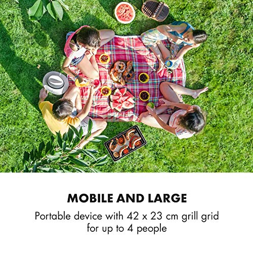 Klarstein Micro-Q 3131 Barbecue au charbon de bois - BBQ portable, BBQ de camping, Rectangulaire,...