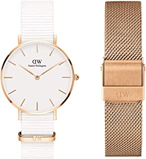 Daniel Wellington Unisex Petite Dover 32mm Watch, 14mm Melrose Strap Gift Set, Multicolour