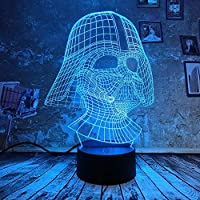 ナイトライト3D、7色イリュージョン変更雰囲気リモートグラデーションキッドベットUsb Ledランプベッドルーム子供用男の子女の子友人最高の贈り物