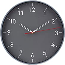 Silent Wall Clocks Battery Operated,Modern Round Non Ticking Arabic Numeral Wall Clock for Living Room Decor (Color : Gray)