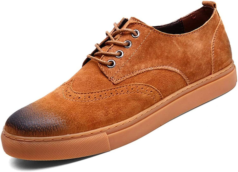 CHENDX Schuhe, Schuhe, Herrenmode Casual Lace Up Oxford Bequeme weiche Formale Brogue Freizeitschuhe (Farbe   Braun, Größe   38 EU)  beste Wahl