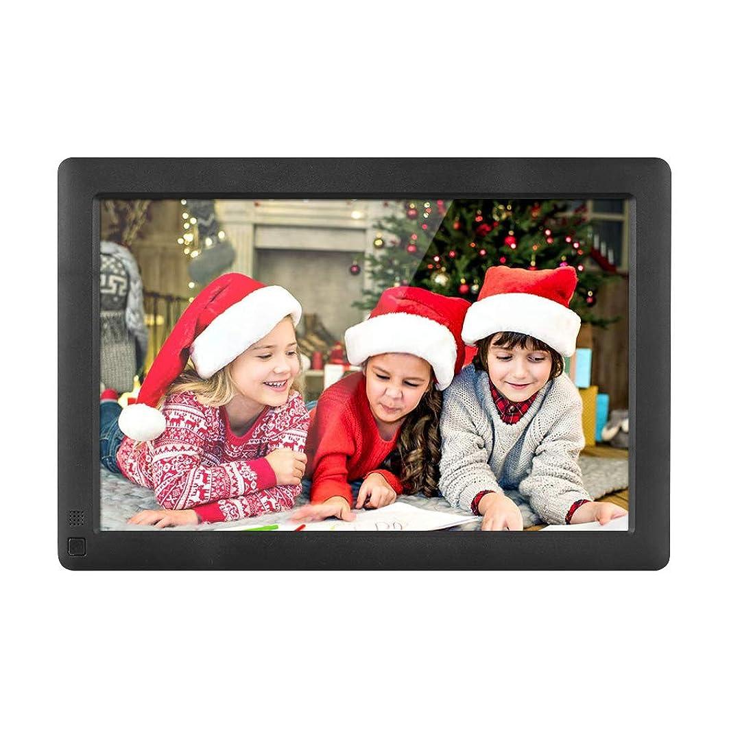 ふつう人工的な協力するAndoer デジタルフォトフレーム 10.1インチ 1280 * 800高解像度 超薄型IPS広視野角 LCD 8GBメモリカード付き 人感センサー/スライドショー/動き検出機能 写真/動画/音楽再生 広告メニューディスプレイ/時計/アラーム/カレンダー リモコン付き ブラック