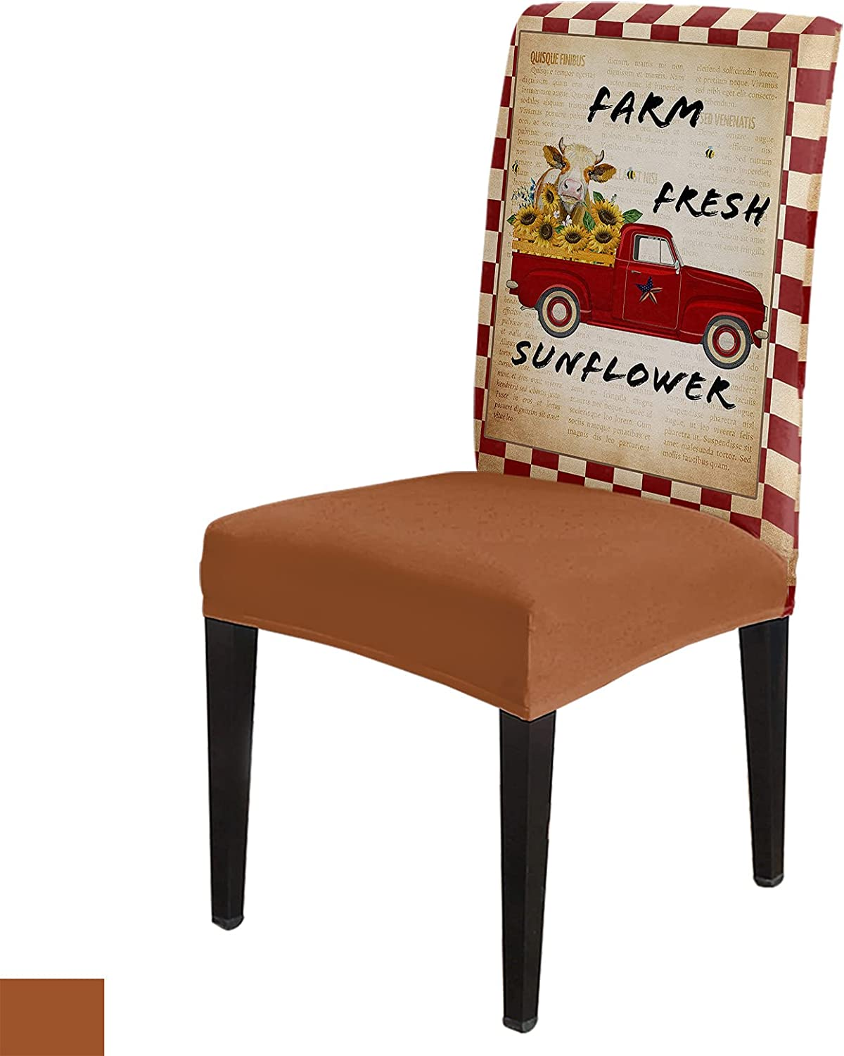 Farm Style Chair Slip Cover Set of with Dining Seat Philadelphia Mall 8 Covers El Max 89% OFF