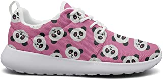Eoyles gy Graphic Cute Panda Attractive Women Slip Resistant Lightweight Running Basketball Shoes