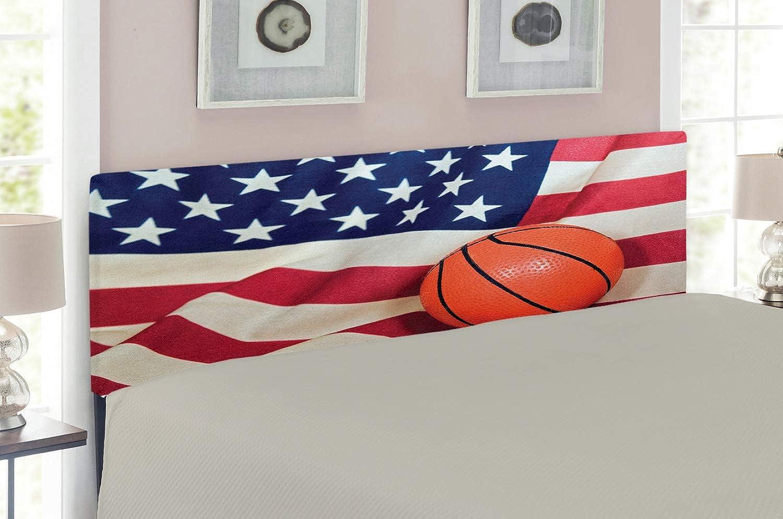 edc8099602e4 Lunarable Sports Headboard for Full Size Bed, Basketball on American ...
