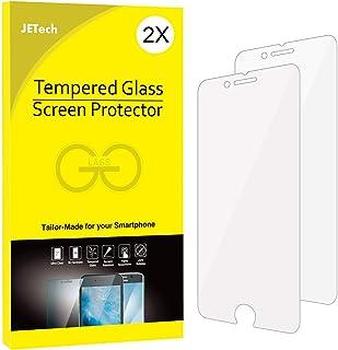 واقي شاشة جيت تيك لهاتف ابل ايفون 8 و ايفون 7، مقاس 4.7 بوصة، طبقة زجاجية مقاومة للكسر، عبوتان
