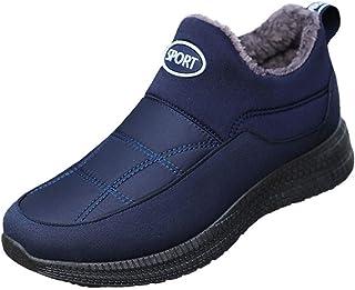 Jancerkmou Hommes Bottes décontracté étanche Cheville Chaussure pour Hommes sans Lacet Hiver Chaud Homme Bottines Britanni...