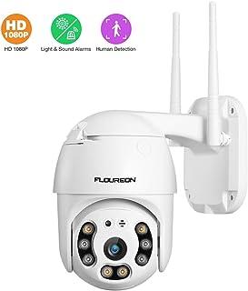 FLOUREON IP Cámara Inalámbrica 1080P Doble Luz WiFi Smart Vigilancia Seguridad Cámara para Interior Exterior Pan/Tilt Detección de Movimiento Humano Vision Nocturna Audio Bidireccional Acceso Remoto