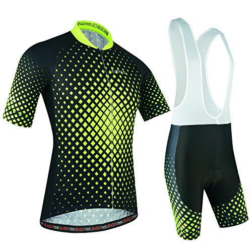 Ciclismo Conjunto de Ropa, Maillot Ciclismo y Culotte Pantalones Cortos con Banda...