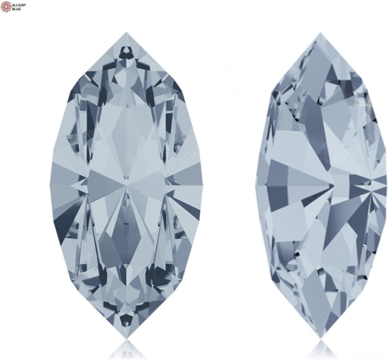 Swarovski Crystals 1187689 Fancy Stones 4228 MM 15,0X 7,0 CRYSTAL BL.SHADE F, 144 Pieces