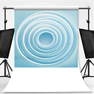 Vector Background with Concentric Circles of Water Photography Backdrop,076527 for Video Photography,Flannelette:6x10ft