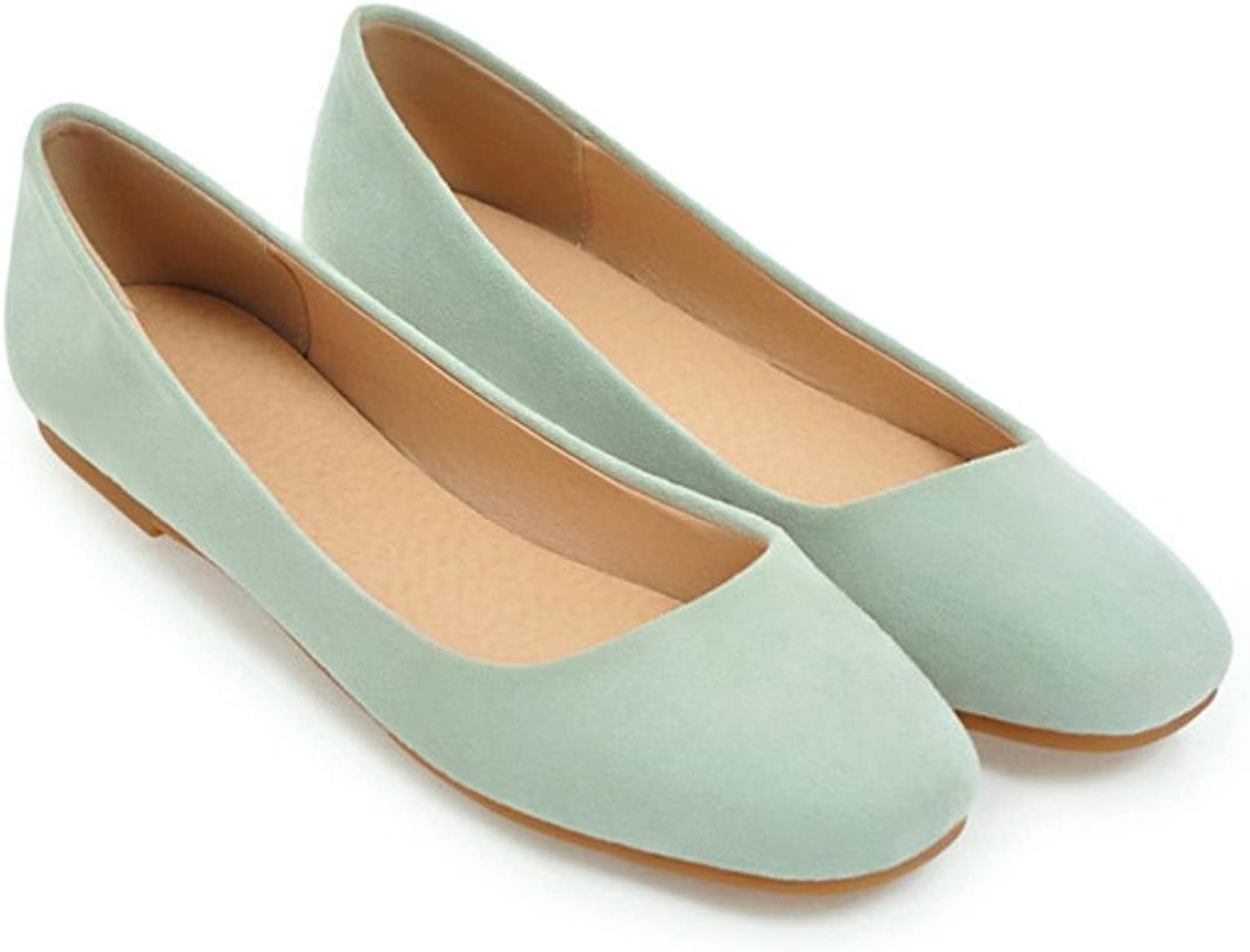 Meotina Women Ballet shoes Flats Slip On Casual shoes Spring Square Toe Boat shoes Ladies