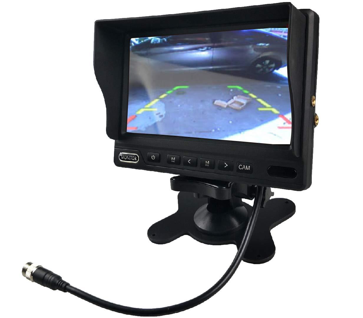 Monitor LCD en Espejo de 4.3 Pulgadas C/ámara Impermeable Visi/ón Nocturna 8 Leds Sistema de visi/ón Trasera ITK TECHNOLOGY ITKC650T430 Pantalla con l/íneas de gu/ía