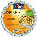 Albal Aluminio Redondo, Tartaleta de 23 centímetros | Desechables | Especial para Repostería y Postres | 3 Moldes