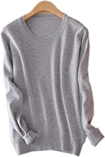 Womens Ladies Round Neck Cashmere Pullover Knitted Sweater Long Sleeve Knitwear Blouse Jumper Tops S-XXL