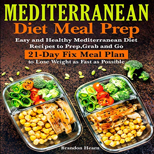 Mediterranean Diet Meal Prep audiobook cover art