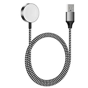 Watch Charger Magnetic Charging Cable for iWatch Wireless Portable Charger Charging Cable Cord Compatible with iWatch Series 6/SE/5/4/3/2/1