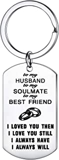 Wife Husband Best Friend Keychain to My Soulmate Love Valentines Day Anniversary Day Gifts Christmas Gift for Lover