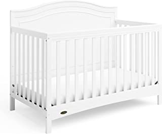 Graco Paris 4-in-1 Convertible Crib - Elegant Detailed Headboard, Converts to Toddler Bed, Daybed, Full-Size Bed, Non-Toxi...