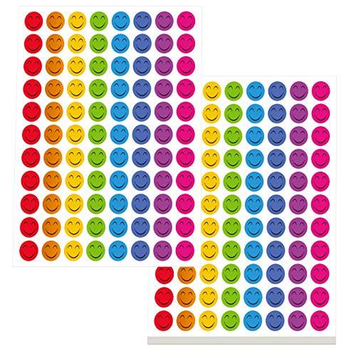 Happy Smile Face Stickers Mega Bundle 5280 PCS in 8 Colors for Reward Behavior Chart 3/8 inch