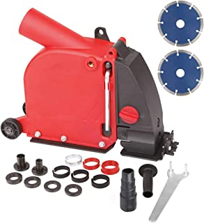 Sponsored Ad – Aidelife Angle Grinder dust Collection Attachment for Double-Cut Saw,Wall Chaser dust Shroud 5 inch AG03