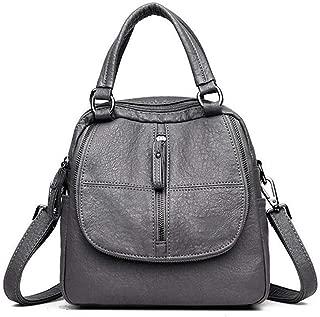 Apostasi Portable Women Travel PU Leather Shoulder Bag, Large Tote Shoulder Handbag with Zipper Nylon for Women Mobile Phone Cosmetic Zipper for Mobile Phone Keys Travel