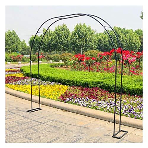 Arco de Metal para decoración de jardín Mink con Base de Soporte de Flores para Soporte de Escalada para Plantas, Rosas, Enredaderas y Verduras, y Arcos de decoración de Flores para Bodas