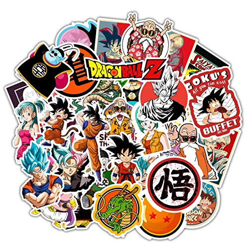 MBGM 50 unids anime japonés siete pegatinas del ordenador portátil Dragon Ball Goku graffiti maleta dibujos animados impermeable pvc pegatinas