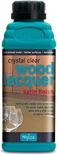 Polyvine Crystal Clear Lacquer Satin Finish Quart