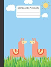 Composition Notebook: Composition Notebook: Cute Llama Wide Ruled Paper Notebook Journal   Wide Blank Lined Workbook for Teens Kids Students Girls for Home School College for Writing Notes