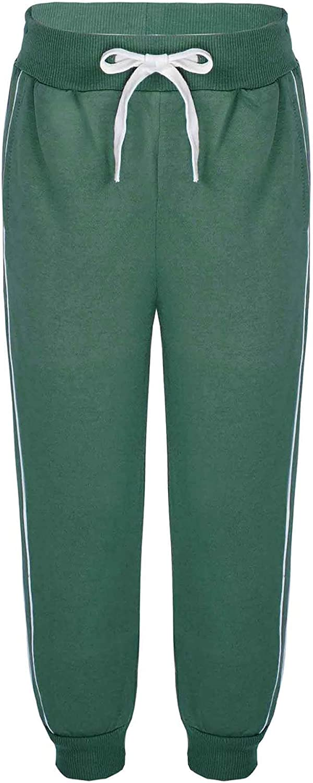 Hansber Little Boys Girls Sweatpants Athletic Harem Sport Pants Drawstring Jogger Pants Loose Running Trousers